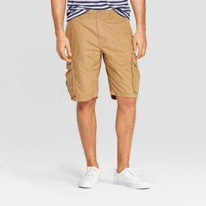 Men's Ripstop Khaki Color Cargo Shorts